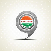 White dotted background with isolated icon for Republic Day — Stock Vector