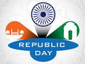 3D vector illustration for Republic Day. — Stock Vector