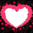 Abstract heart shape frame for valentines day and other occasion — Imagen vectorial