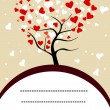 Vector illustration of a love tree with copy space for your text — Stok Vektör