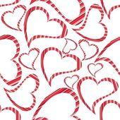 Vector ilustración de forma de corazón sobre fondo blanco sin costuras — Vector de stock