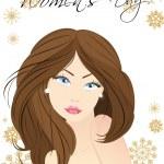 Vector illustration of a beautiful women face. — Stock Vector #8475482