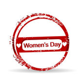 Vector illustration of a rubber stamp for Womens Day. — Stock Vector