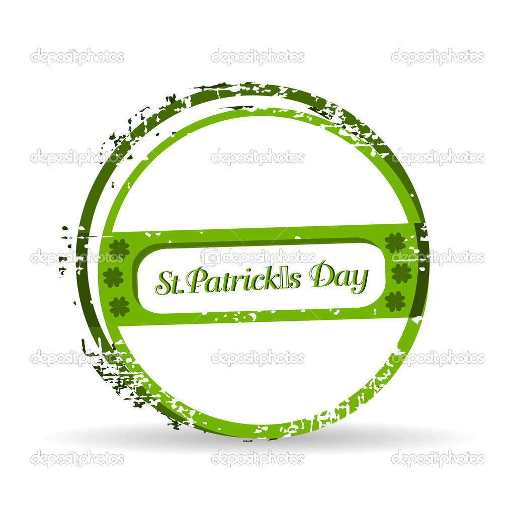 Green grunge rubber stamp with text St. Patrick's Day written inside, vector illustration . — Stock Vector #8499897