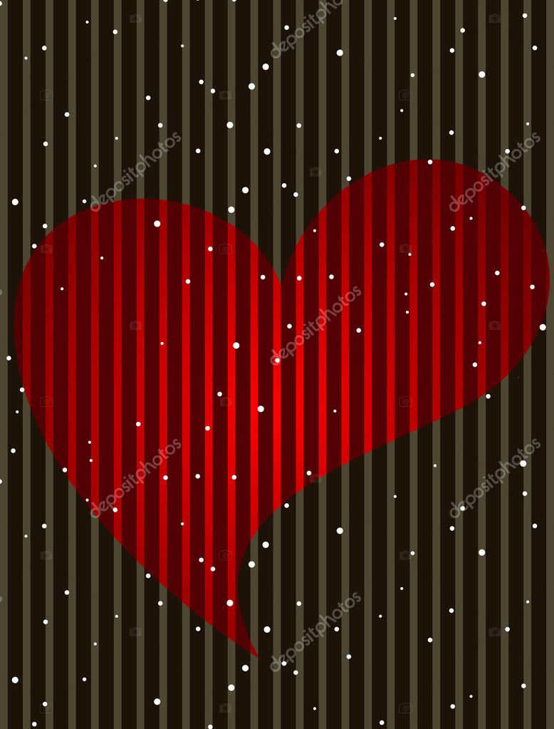 Heart shape in red color and copy space for text on brown color background  for Valentine Day and other occasions.  Stock Vector #8526697