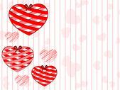 Prachtige opknoping harten op naadloze lijn achtergrond. vector ziek — Stockvector