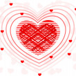 A fusion of decorative heart shape .Vector illustration. - Foto Stock