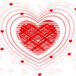 A fusion of decorative heart shape .Vector illustration. — Stock Photo