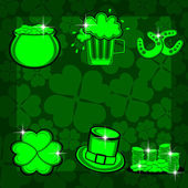 Element set with bright colors for st. patrick's day. vector — Stock Vector