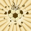 Vector illustration of  football in the shape of heart — Imagens vectoriais em stock