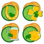 Set of ornaments for Patrick's Day with abstract background. vec — Stock Vector
