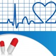Royalty-Free Stock Vector Image: Vector Heart beat  illustration with capsules