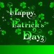 St.Patrick day greeting with shamrocks and decorative text. vect - Stock Vector