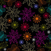 Vector illustration of Seamless floral pattern. — Stok Vektör