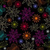 Vectorillustratie van naadloze bloemmotief. — Stockvector