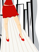 Beautiful lags of a girl with the abstract background.vector. — Stock Vector