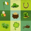 A set of St. Patrick day elements. — Stockvectorbeeld