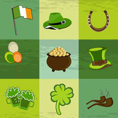 A set of St. Patrick day elements. — Stock Vector