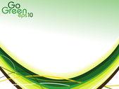 抽象背景绿色。矢量插画. — 图库矢量图片