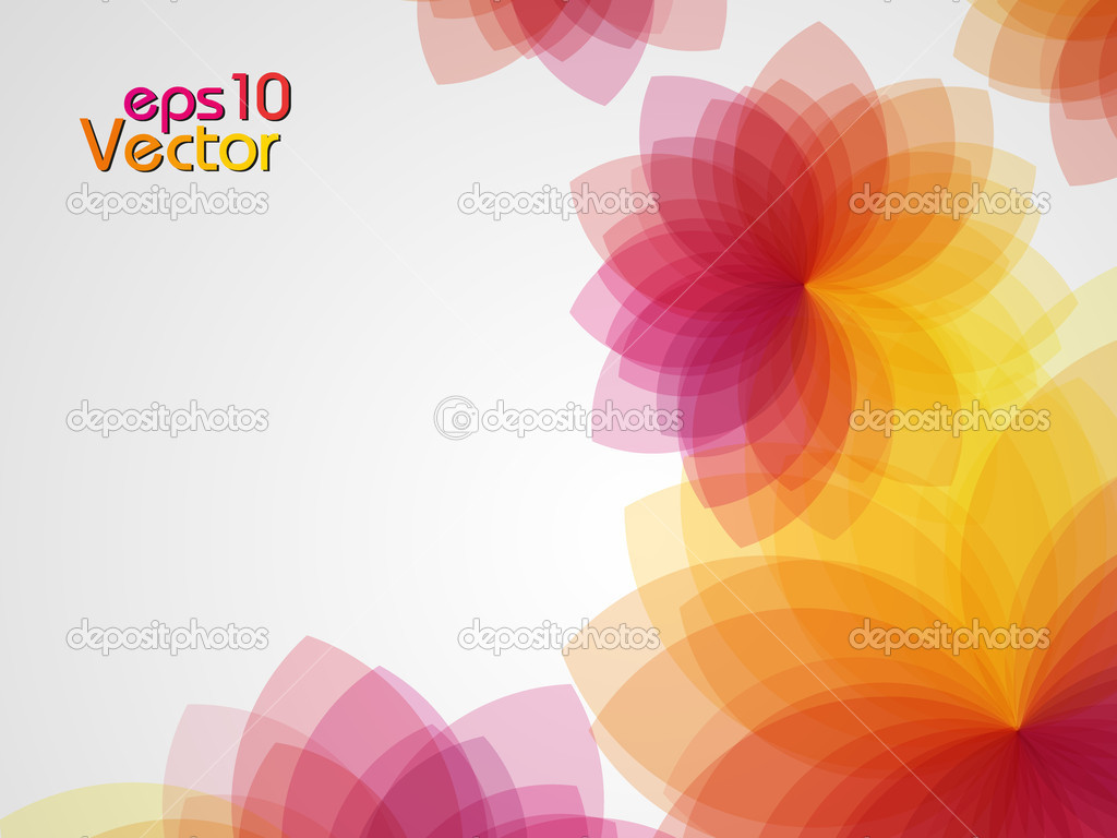 Colorful floral abstract background. Vector illustration. — Stock Vector #9029119