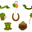 St.Patrick's Day symbols.Vector illustration. — Stock Vector