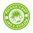 Green grunge rubber stamp with beer mug for St. Patrick's Day — Vector de stock  #9045152
