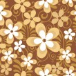 Abstract seamless pattern with beautiful floralsr. vector — Image vectorielle