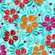 Abstract seamless pattern with flowers. vector - Stock vektor