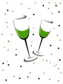 A green wine glass theme of Patrick's Day. Vector illustration. — Stock Vector