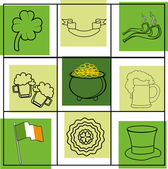 Seamless St.Patrick's day background. — Stock Vector