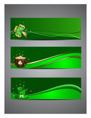 Abstract, A set of headers for St. Patrick's Day. — Stock vektor