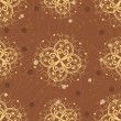 Royalty-Free Stock Vector Image: Abstract seamless pattern with golden florels. vector