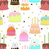 Streszczenie kolorowy wzór z ciastem. wektor wektor — Wektor stockowy