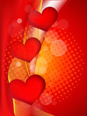 Abstract heart background illustration — Stock Vector