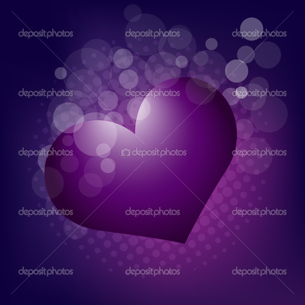 Vector illustration of background with hearts in purple. for more similar abstract,  please visit in my gallery. — Stock Vector #9123200
