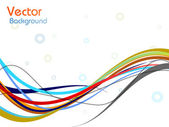 Vector colorful wave background. eps 10. — Stock Vector