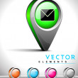 Internet web 2.0 icon with mail or message symbol. — Stockvektor