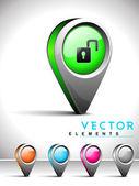 Internet-web 2.0-symbol mit unlock symbol. — Stockvektor