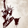 Statue Of liberty. Vector illistration. — Vettoriale Stock