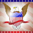Vector illustration of American flag with eagle. — Stock Vector