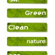 Set of nature concept banners. Vector illustration. — Stok Vektör