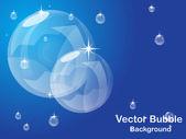 Shiny Bubble background. Vector illustration. — Stock Vector