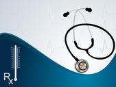 ECG Electrocardiogram medical background — Stock Vector