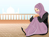 Beautiful muslim girl 2. — Stock Vector