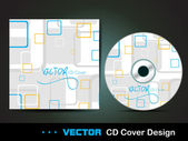 Square abstract CD cover,for more business card of this type ple — Stock Vector