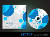 Blue circles CD cover,for more business card of this type pleas — Stock Vector
