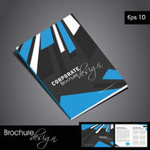 Vecteur brochure corporate design. — Vecteur