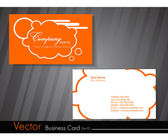 Vector illustration of professional business card in orange colo — Stock Vector