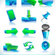 Vector illustration, set of web mail icons. — 图库矢量图片