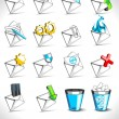 Vector illustration, set of web mail icons. — Stock Vector #9636175